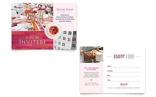 Invitation Templates - InDesign, Illustrator, Publisher, Word