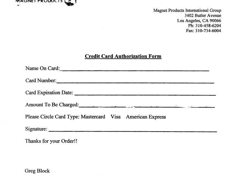 Credit Card Processing Form Template | Besttemplates123