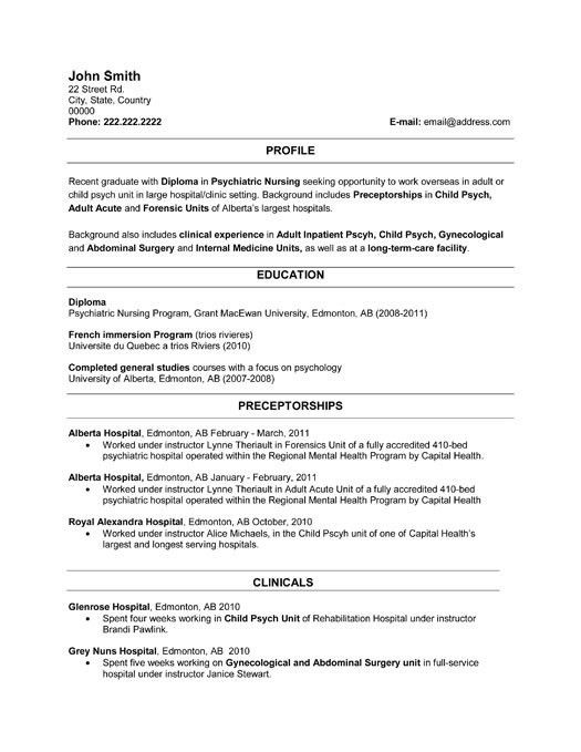 Click Here to Download this Recent Graduate Resume Template! http ...