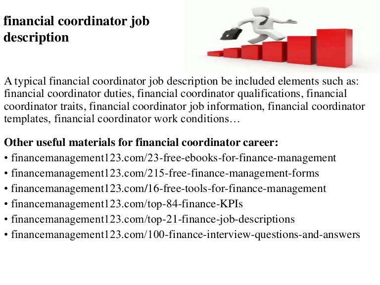 Financial coordinator job description