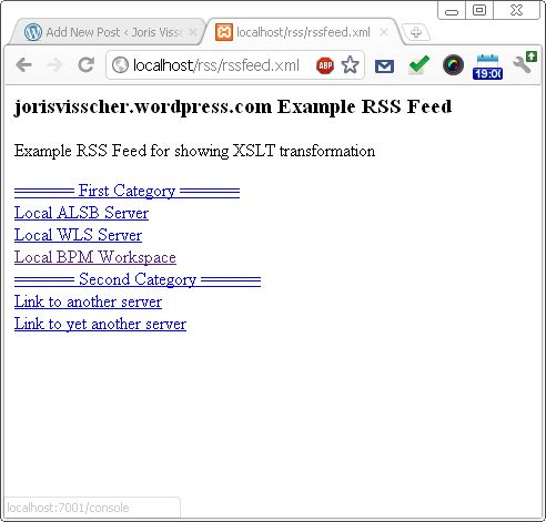 Use XSLT to display your RSS feeds on Google Chrome (Live Bookmark ...