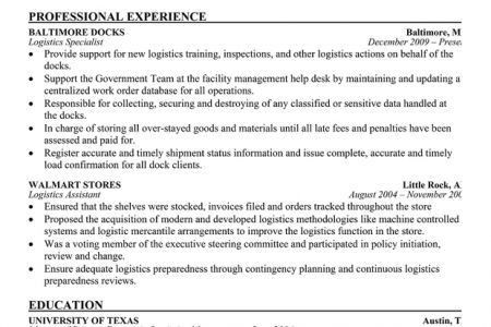 Environmental Specialist Resume Example, management specialist ...