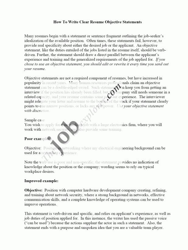 cover letter Objective On Resume Example objective section on ...
