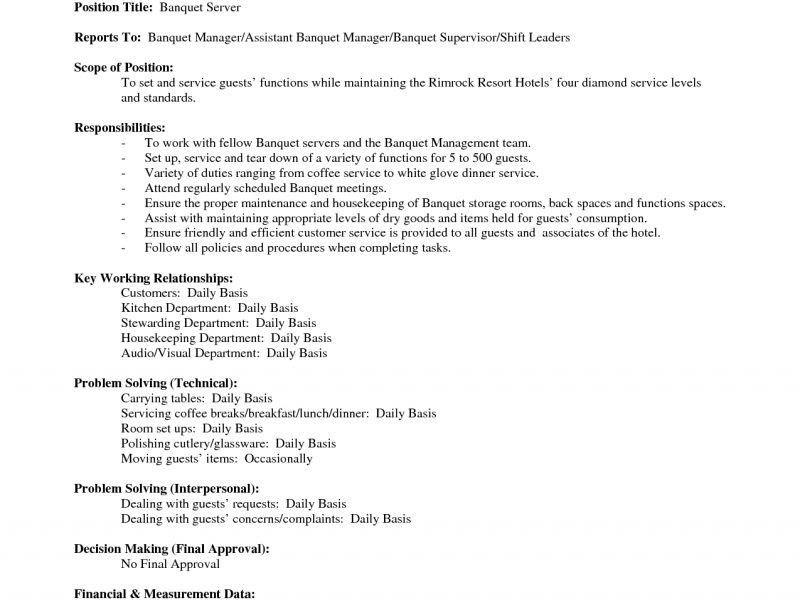 food server job description 11 server job description templates