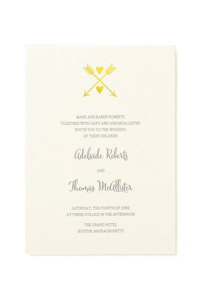 Heart and Arrow Print at Home Invitation Kit | Gartner Studios ...