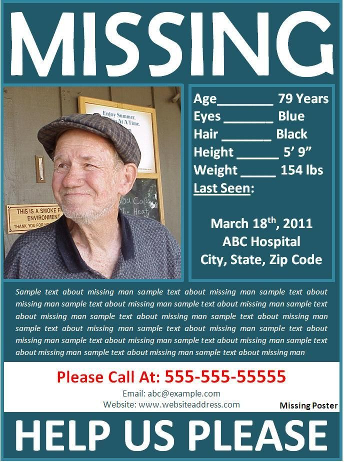 Missing person Poster Template Archives - Fine Templates