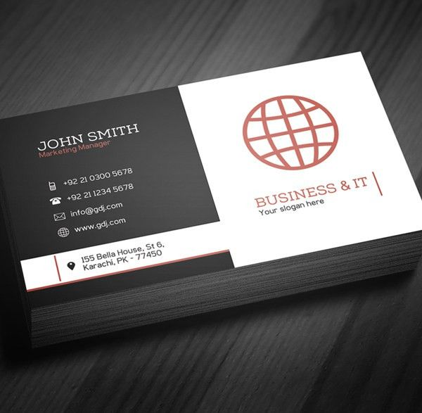 Free Corporate Business Card Template (PSD) | Freebies | Graphic ...