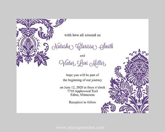 Free Wedding Invite Templates Word #13097