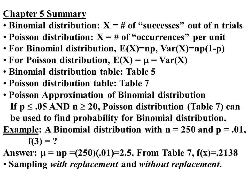 Chapter 5 Discrete Probability Distribution I. Basic Definitions ...