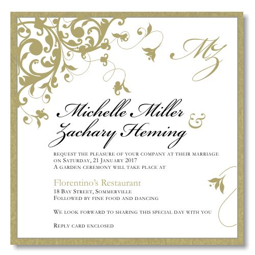 Budget Wedding Invites Template | Best Template Collection