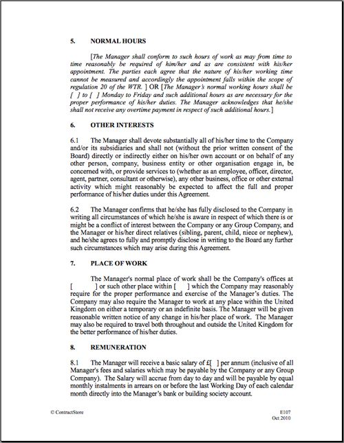 Employment Contract Template - vnzgames