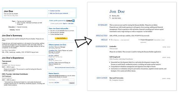Projects Ideas Linkedin Resume 1 Resume Builder Comparison ...