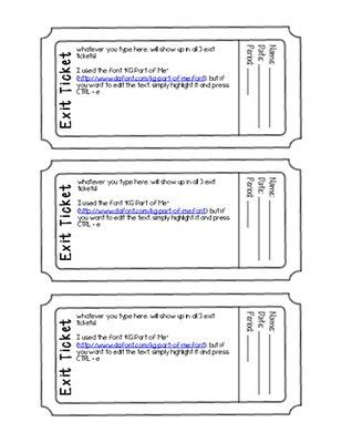 Exit Ticket Template | cyberuse
