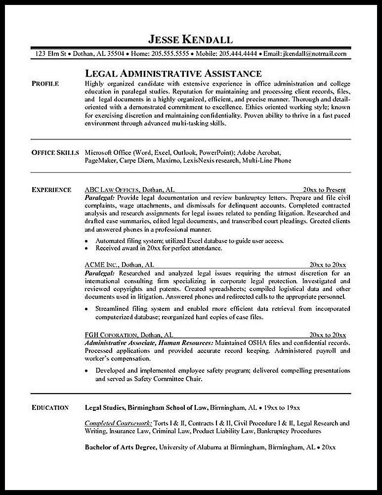 How to Write a paralegal resume with no experience - RESUMEDOC