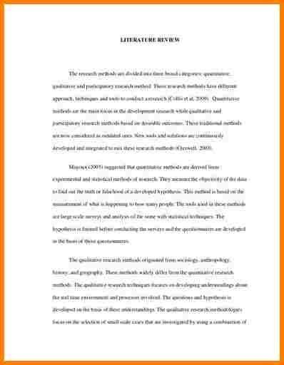 7+ literature review sample in research proposal | Proposal ...