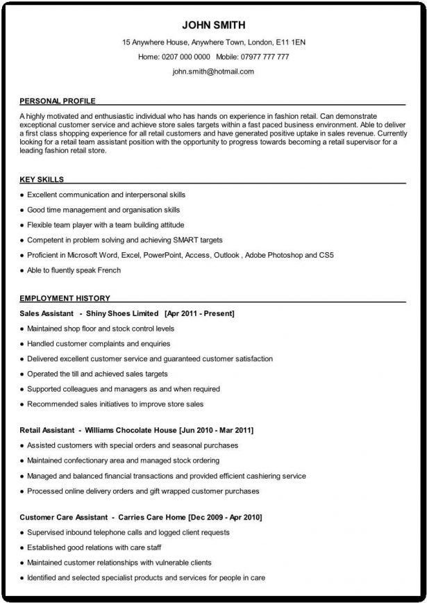 Curriculum Vitae : Supermarket Clerk Retail Visual Merchandiser ...