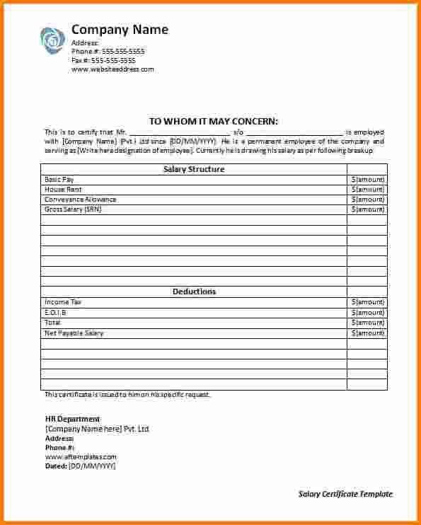8+ salary certificate template uae | RSVP Slip Template
