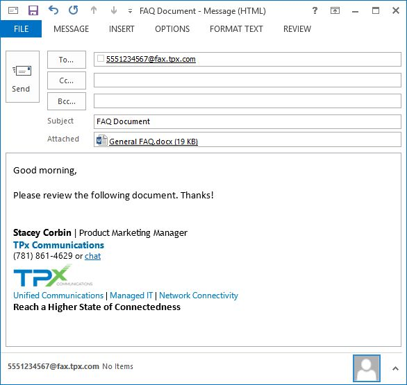How to Send a Fax via Email - TPx User Guides