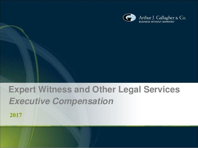 Arthur J. Gallagher Expert Witness Services (Executive Compensation)