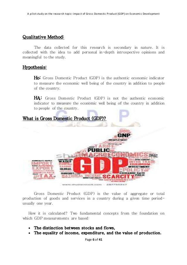 Impact of gross domestic product (gdp) on economic development