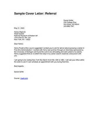 cover letter referral