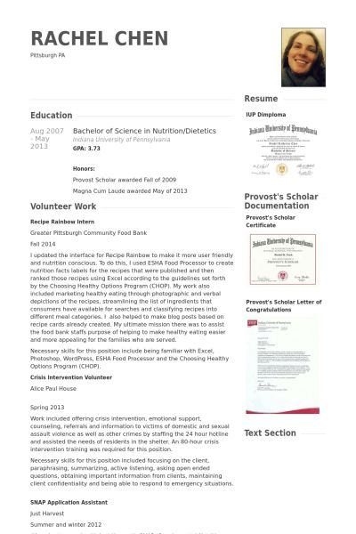 Cashier Resume samples - VisualCV resume samples database