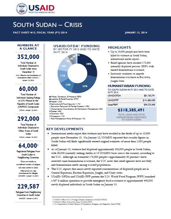 South Sudan Crisis Fact Sheet #30 February 25, 2014 | U.S. Agency ...