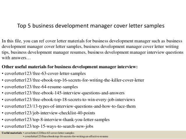 Business Development Director Cover Letter