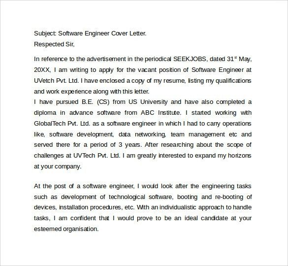 7+ IT Cover Letter Templates - Free Sample, Example, Format