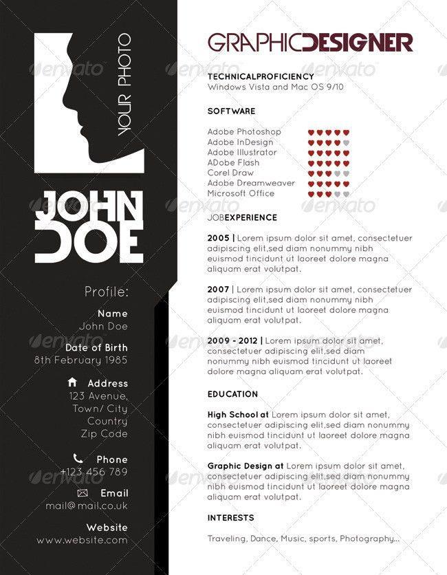 Resume - CV Design Templates by robisklp | GraphicRiver