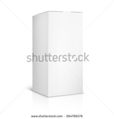 Blank Paper Cardboard Box Template On Stock Vector 264769178 ...