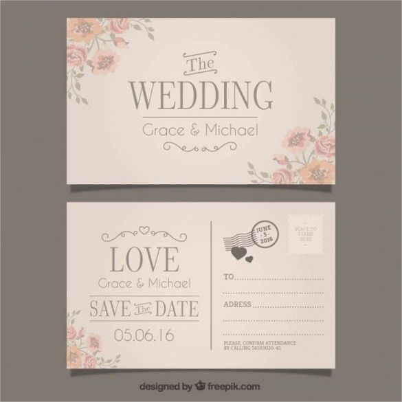 20+ Wedding Postcard Templates – Free Sample, Example, Format ...