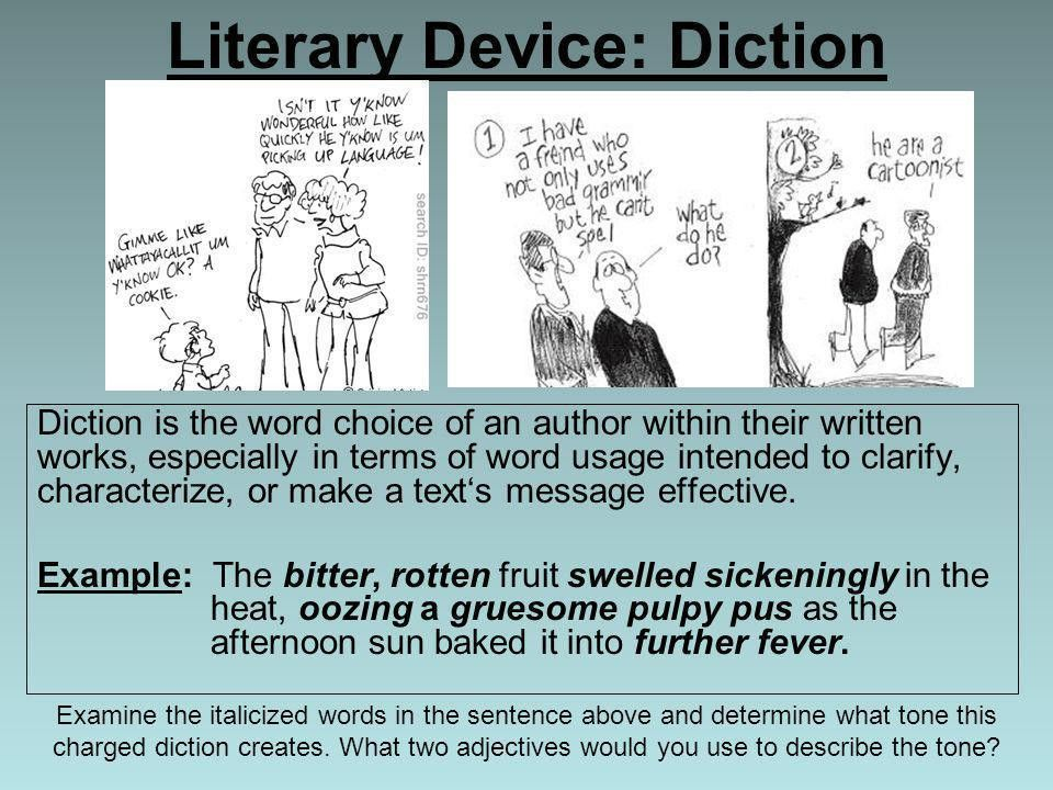 Literary Device: Diction - ppt video online download
