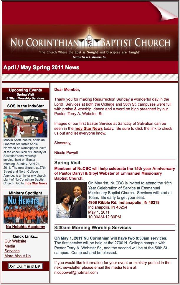 Sunday school newsletter format | newsletter ideas | Pinterest ...