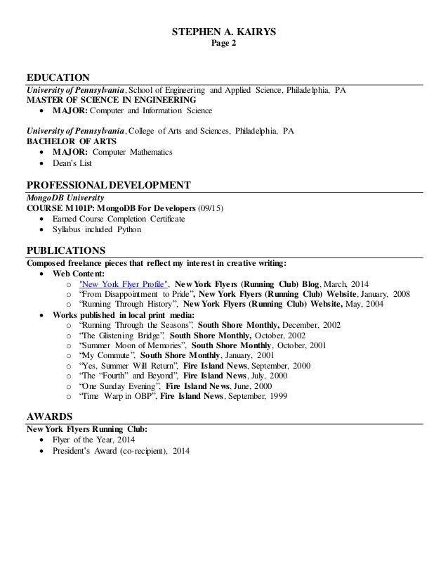 Stephen Kairys Technical Writer Resume 11-6-15(HC)