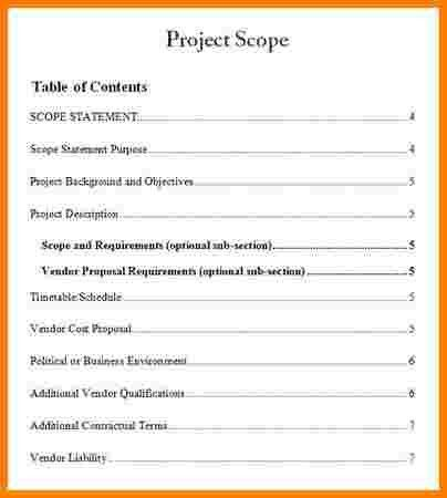 6+ example of project scope statement | Case Statement 2017
