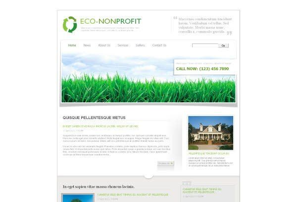 Environmental & Non Profit Web Template Pack from Serif.com