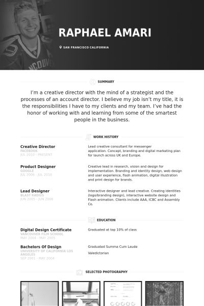 Director Resume samples - VisualCV resume samples database