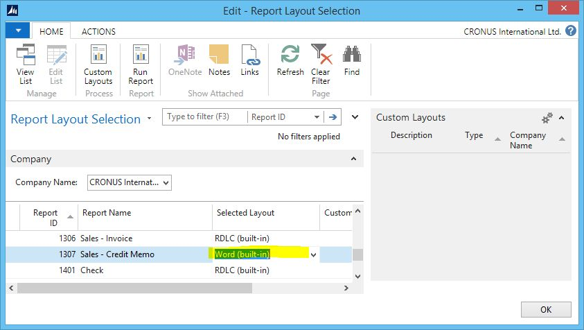 How to create new documents with Word Layout in NAV 2015 | Totovic ...
