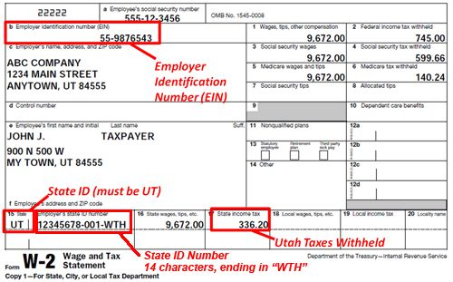 Income Tax Withholding | Utah Income Taxes