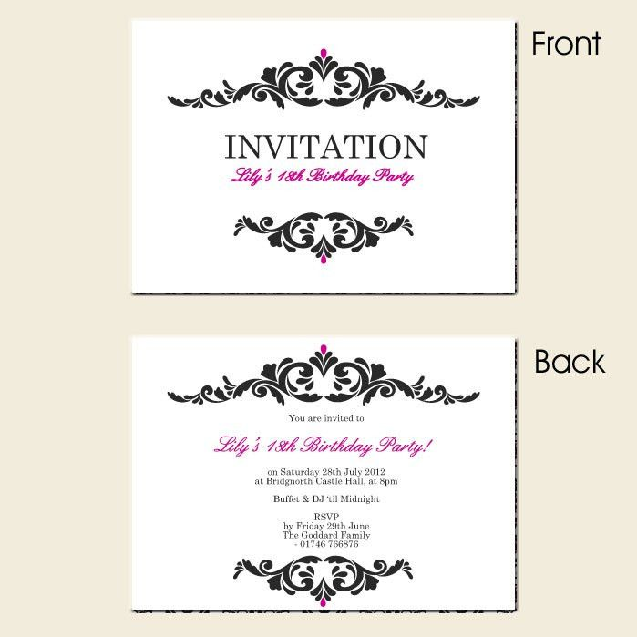 Birthday Invitation Cards Templates Free Download ~ Addnow.info