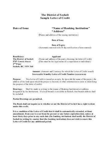 Letter Of Credit Sample. 8 Letter Of Release Form 5 A Letter Of ...