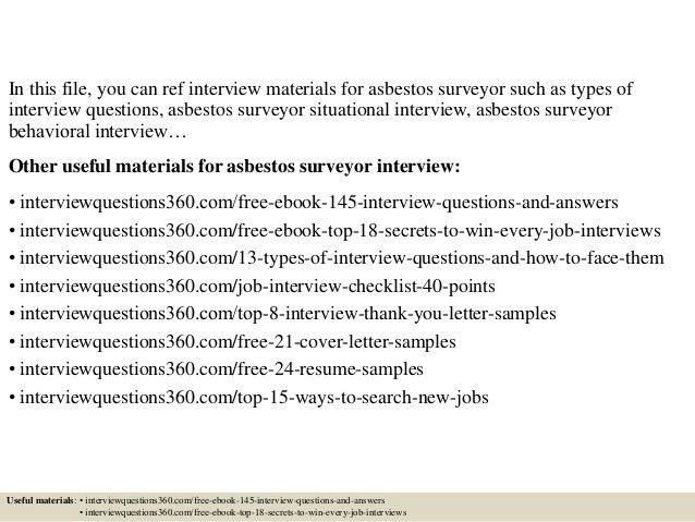 top 10 asbestos surveyor interview questions and answers. top 8 ...