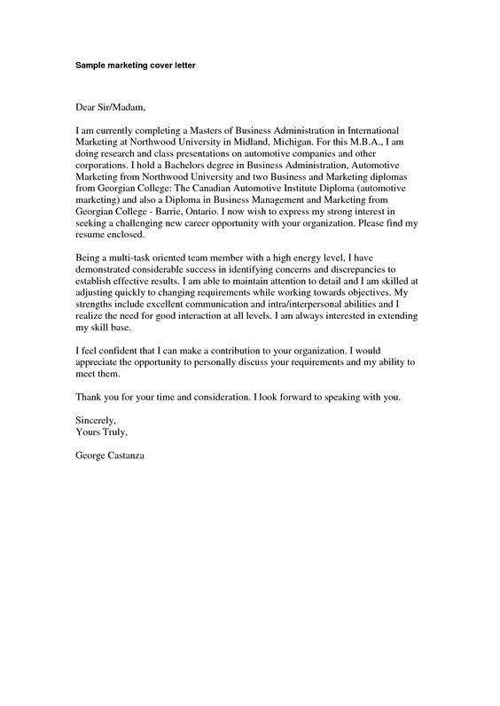 Winning Cover Letter Sample | The Best Letter Sample