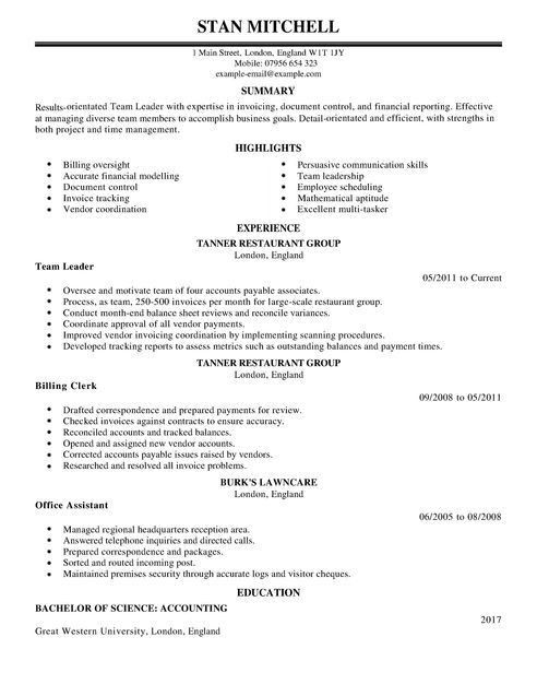 Stylist Design Ideas Team Leader Resume 5 Supervisor Resume ...