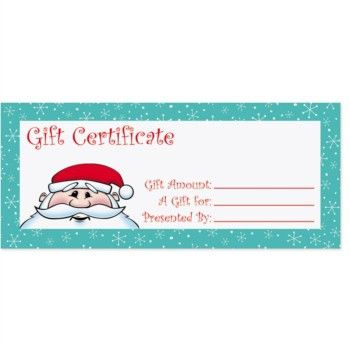 Kris Kringle Fill-In-The-Blank Gift Certificates - PaperDirect