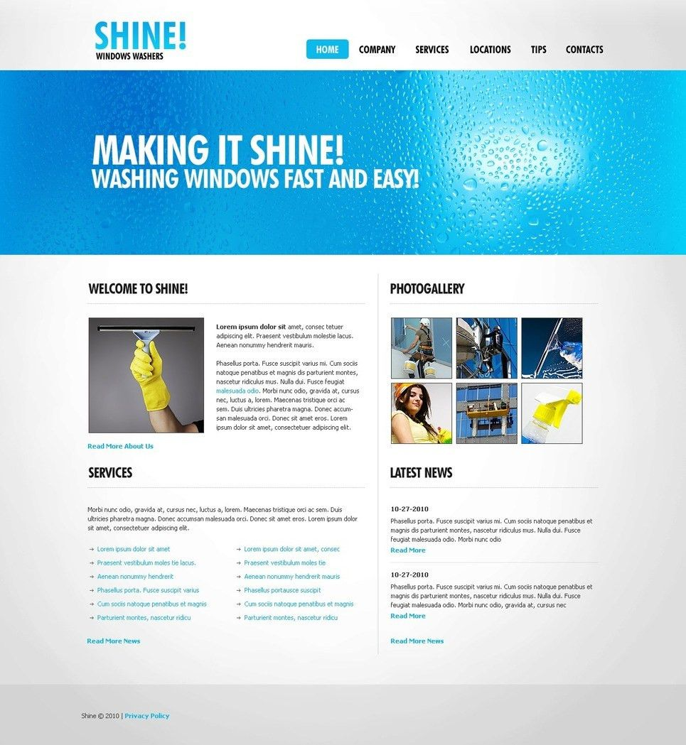 Window Cleaning Website Template #27144