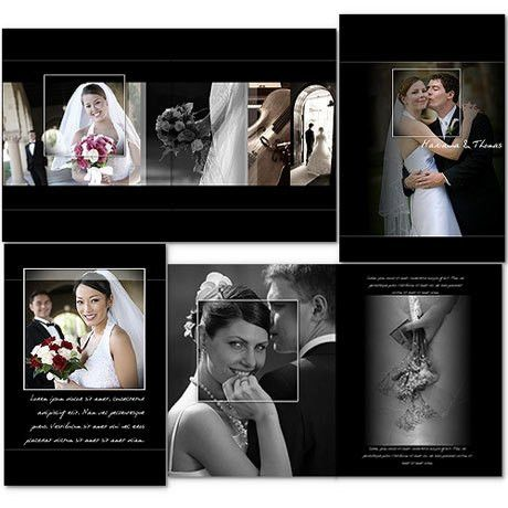 11x14 Wedding Album Templates | arc4Studio
