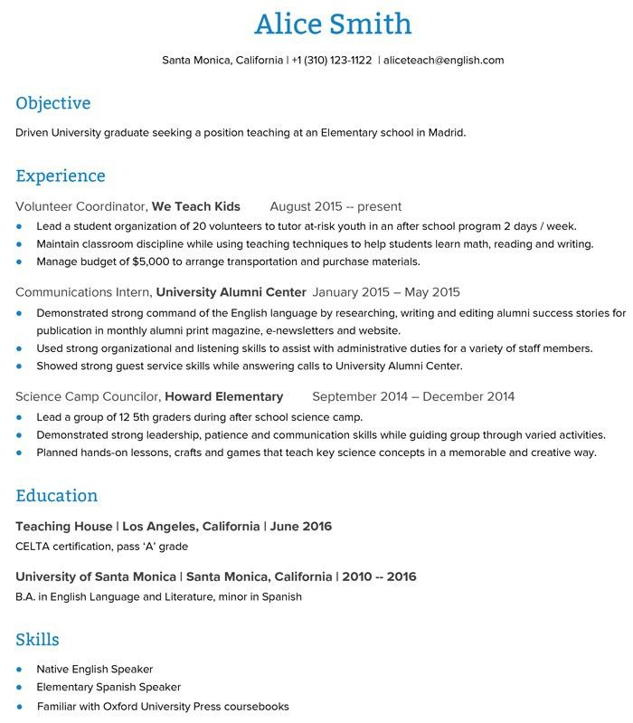 esl teacher resume sample no experience professional f. quality ...