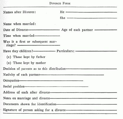 Printable Sample Divorce Papers Form | Laywers Template Forms ...